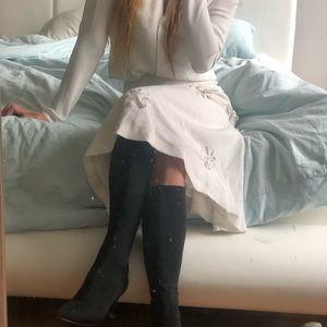 White snowflake skirt